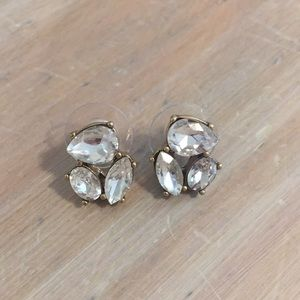 Clear crystal J Crew studs